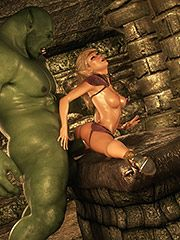 3D babes suck and fuck with monster cock - Dungeon intro  by 3D Collection